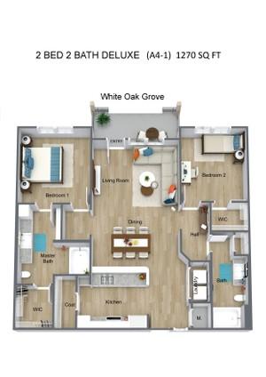 2 BED 2 BATH DELUXE  (A4-1)  1270 SQ FT - White Oak Grove - 3D Floor Plan (1).jpg