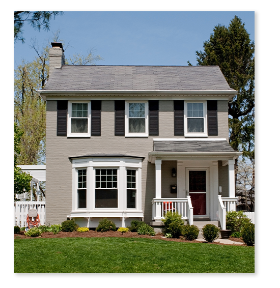 A lovely neutral colored painted home