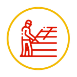 worker on roof icon