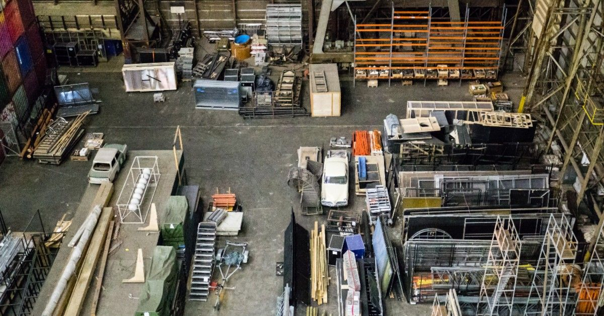 aerial view of storage locker