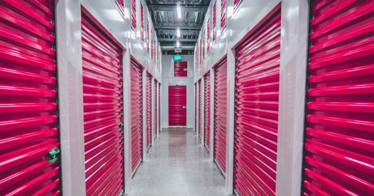 pink interior storage unit