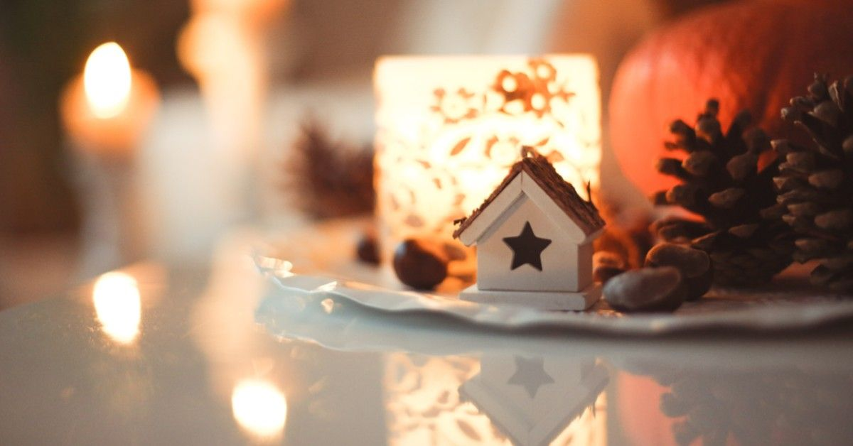 close up winter decorations